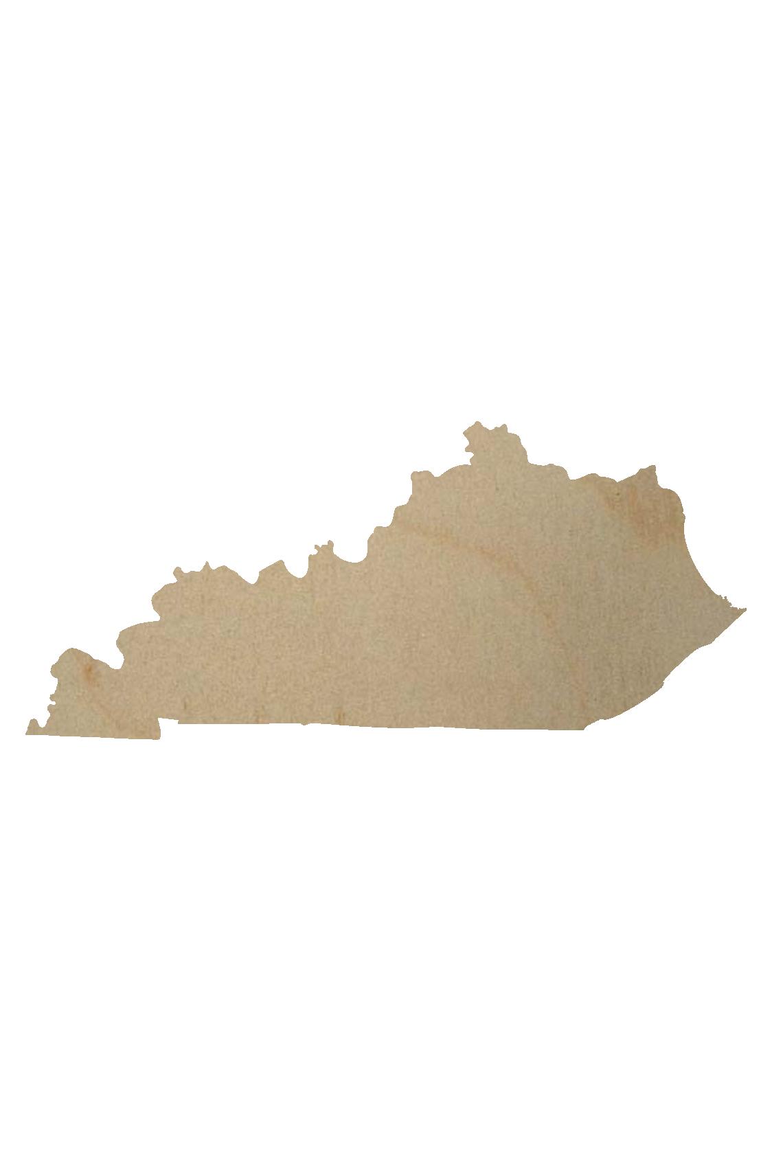 Wooden Kentucky Shape Cutout