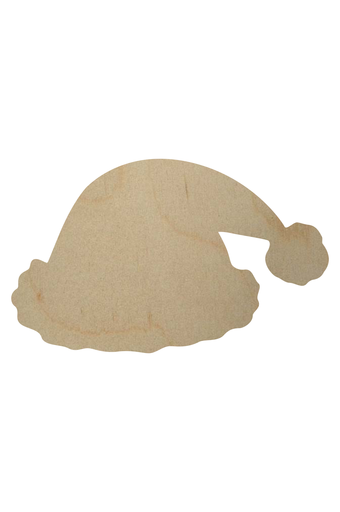 Wooden santa hat shape wooden santa hat cutout for Wooden christmas cutouts