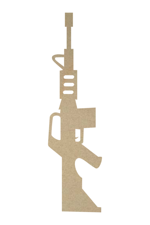Wooden AR15 Cutout