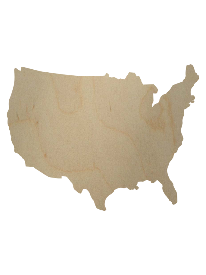 Wooden State Cutouts Wooden State Shapes Unfinished State Shapes