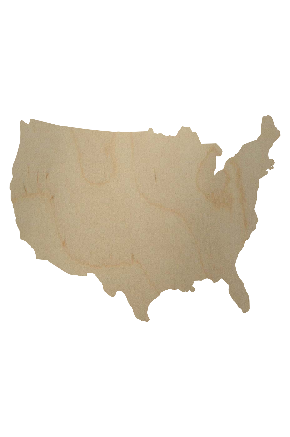 Wooden Usa Cutout Shape